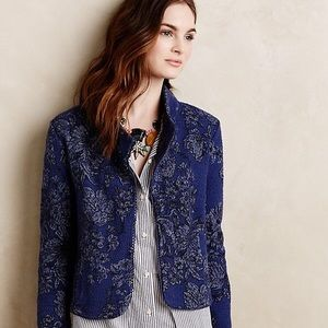 Anthro Knitted & Knotted Blue Nightshade Jacket MP